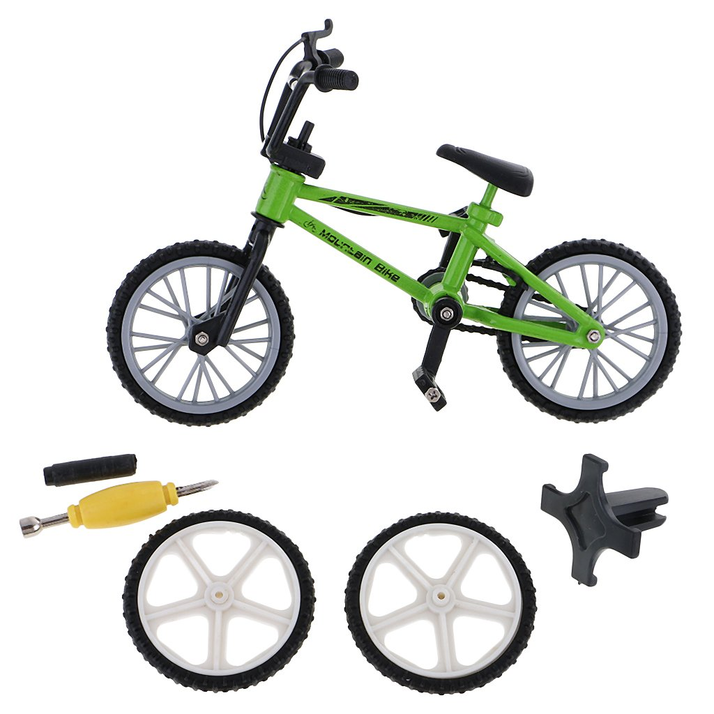 Gazechimp Mini Kit Modelo de Bicicleta Juguete Finger de Metal Decoraci/ón de Oficina Regalo de Ni/ños Verde