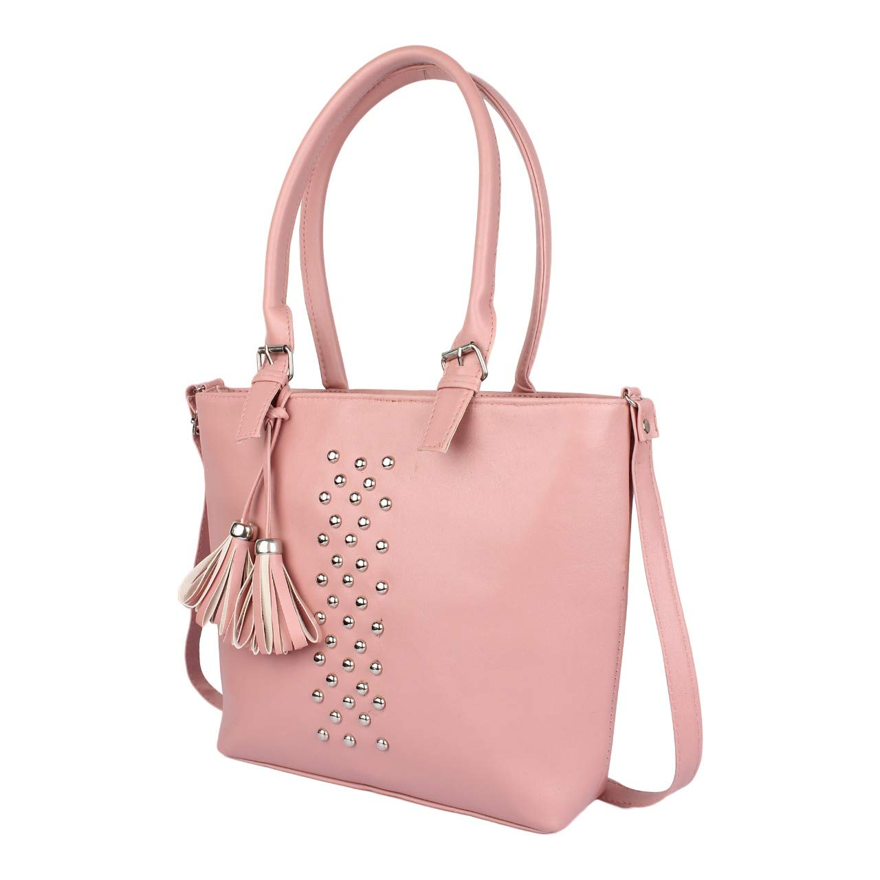 fa51455d7d Typify Women s Leatherette PU Handbag with Sling Belt for College (Pink)   Amazon.in  Shoes   Handbags