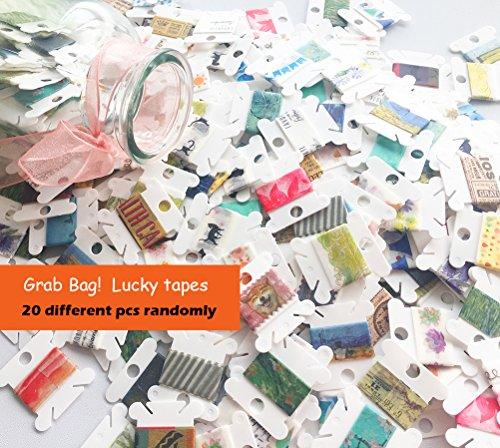 Grab Bag - Washi Tape Samples - 20 different pcs randomly