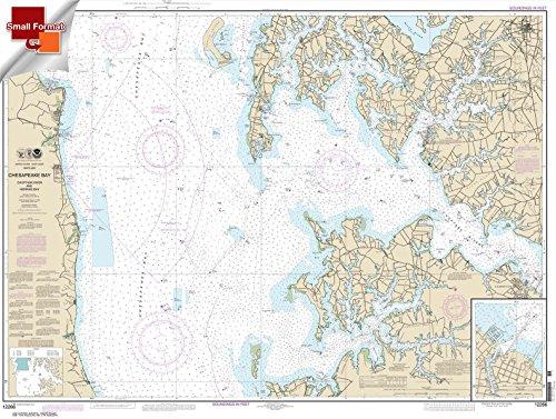 Paradise Cay Publications NOAA Chart 12266: Chesapeake Bay Choptank River and Herring Bay; Cambridge 21.00 x 27.88 (SMALL FORMAT WATERPROOF)
