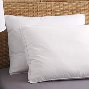 Allied Essentials ComfortPure Premium Gusset Pillow, Hypoallergenic Pillows for Side and Back Sleepers, Soft and Supportive 2 Pack (Queen)