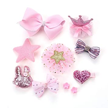 Amazon.com: GUOYIHUA 10pcs/set kids hairpin,