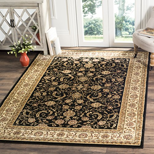 - Safavieh Lyndhurst Collection LNH219A Traditional Oriental Black and Ivory Area Rug (8' x 11')