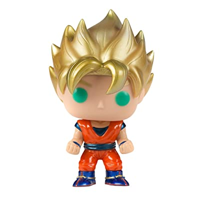 Funko POP! Anime: Dragonball Z Super Saiyan Goku Metallic Exclusive: Toys & Games