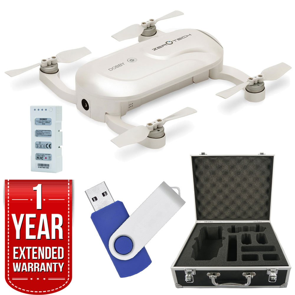 Dobby DOBBY Mini Selfie Pocket Drone with 13MP High Definition Camera Deluxe Bundle