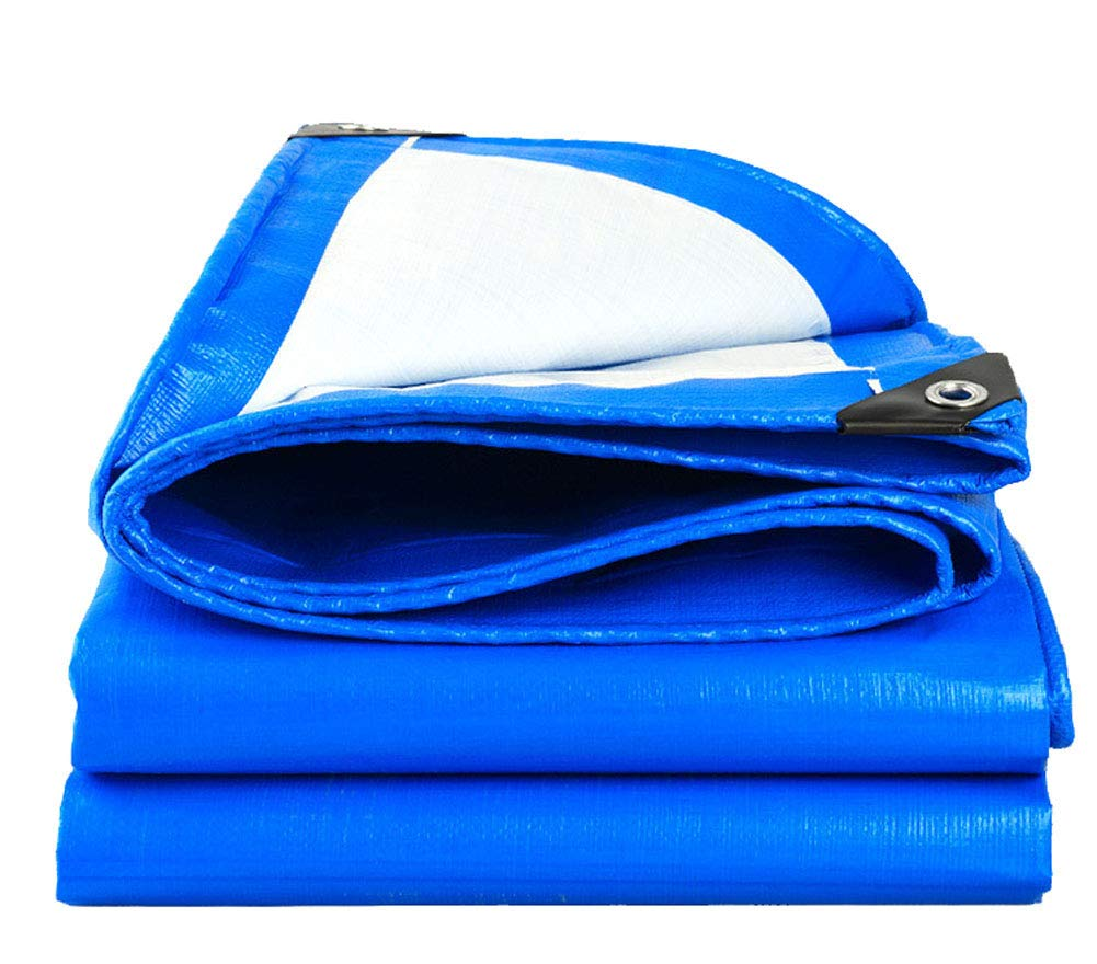 ARNCEE Heavy Duty Tarp Tarpaulin Thick 3m x 4m 9ft x13ft (3 x 4 m) PE Tarpaulin Waterproof Blue tarp Sheet Premium Quality Cover Tarp for Outdoor Camping