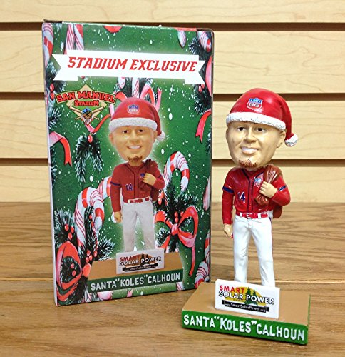 Kole Calhoun Christmas Santa Hat 2016 Inland Empire 66ers STADIUM PROMO Bobblehead SGA of this California Angels Fan Favorite Super Star (Head Bobble Santa)