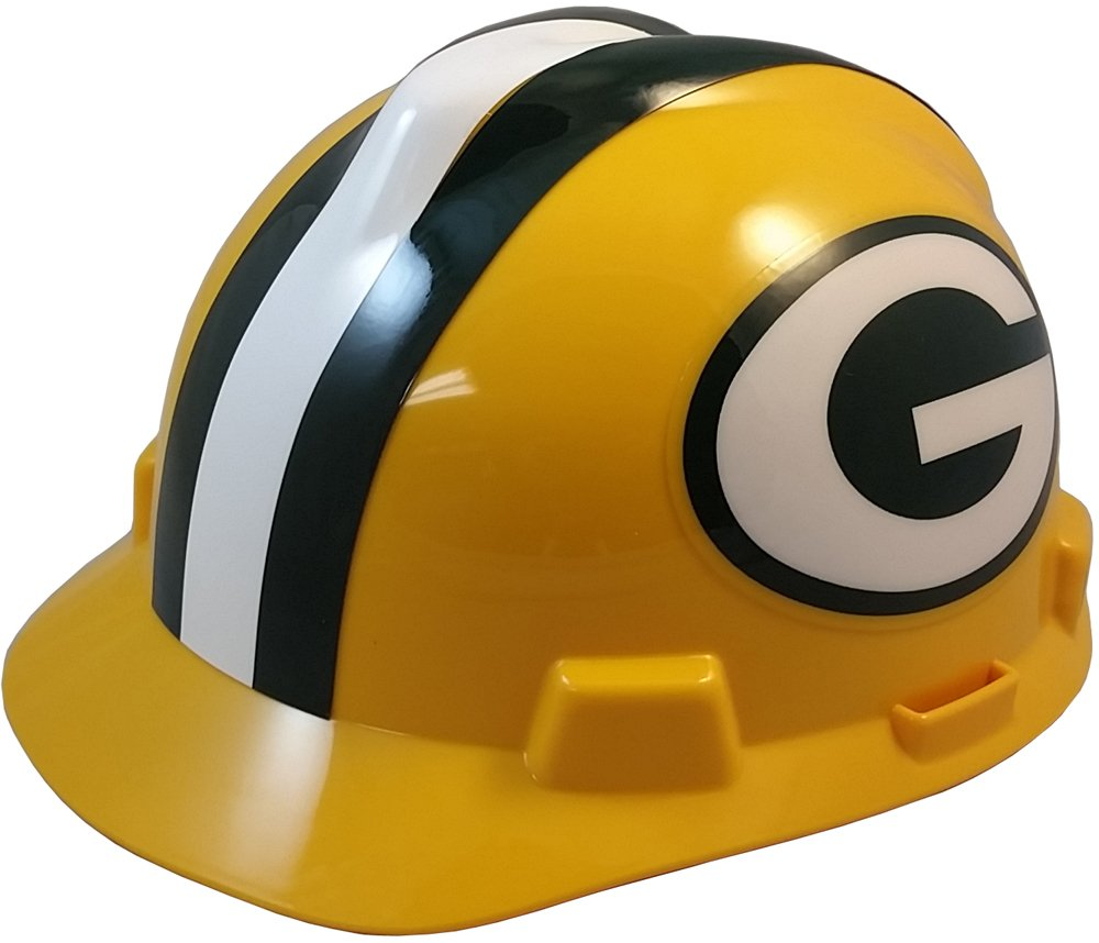 MSA NFL Ratchet Suspension Hardhats - Green Bay Packers Hard Hats by MSA (Image #1)