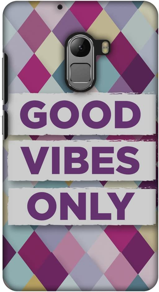 AMZER Slim Handcrafted Designer Printed Hard Shell Case Back Cover for Lenovo K4 Note A7010 - Good Vibes Only