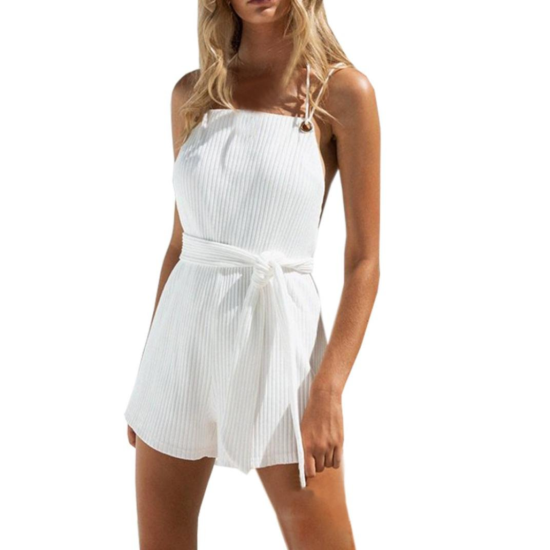 0accd1c65b083 ❊Material Polyester♥♥Women s sexy u-collar sleeveless backless stretch  bottoming vest bodysuit rompers women s elasticized waistline casual romper  ...