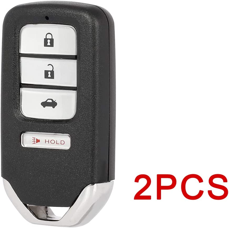 ECCPP Replacement 2 X Remote UNCUT ignition key fob 433 MHZ flip key 4 Buttons 47 chips 17 18 19 for Honda Civic FCC KR5V2X 72147-TBA-A01