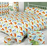 Mucky Fingers Childrens Dinoworld Duvet Cover Bedding Set (Twin Bed) (Dinoworld)