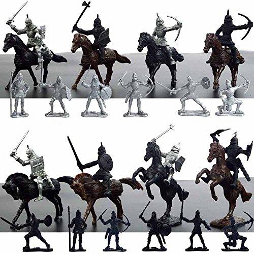 28 Pieces/set Plastic Ancient Soldier Static Model Psychological Sand Table Battleground Action Figure