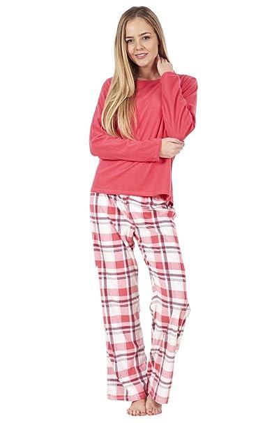 ChicWhisper - Pijama - para mujer Rosa Pink Check 42