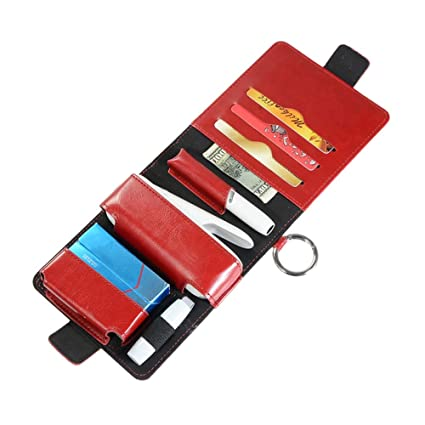 solo borsa Blu Accessori per sigaretta IQOS Yeleo Trosetry Custodia in Pelle PU per IQOS 3.0