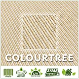 ColourTree 8' x 12' Beige Rectangle Sun Shade Sail