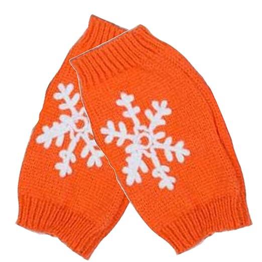Amazon Womens Winter Warm Knitted Crochet Gloves Snowflake