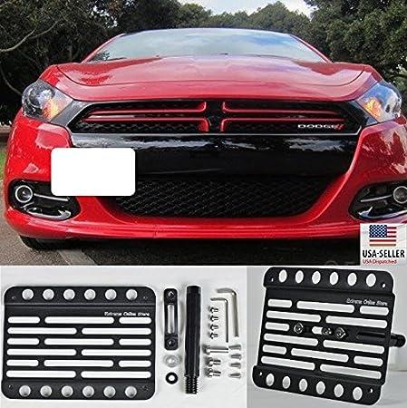 Multi Angle Tow Hook License Plate Holder 2013-2016 Dodge Dart