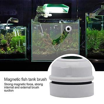 AOLVO Mini Limpiador magnético para Acuario, pecera, Vidrio, Algas, espátula, Cepillo Flotante, Limpiador de Algas para Patios, estanques: Amazon.es: ...