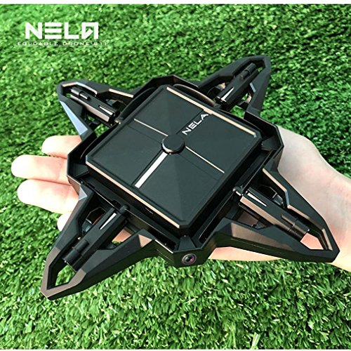 Leewa Foldable RC Selfie Drone, NELA S11 Mini 2.4G 4CH Altitude Hold 0.3MP Camera WIFI FPV RC Quadcopter Drone (Black) by Leewa