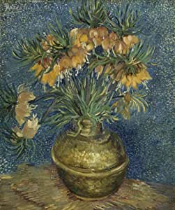 """Gogh, Vincent Van - Imperial Fritillaries in a Copper Vase Print Painting on Canvas Repro 20x24"""""""