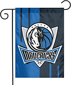 Xihe Fashion Basketball Team Double Sided Banner Linen Material House Yard Decoration Flags Home Garden Flags 12 x 18 Inch (Dallas Maverick )