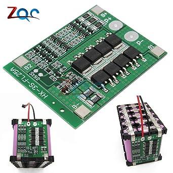 3S 25 A Li-Ion 18650 BMS PCM BatterieSchutz-Board BMS PCM con ...