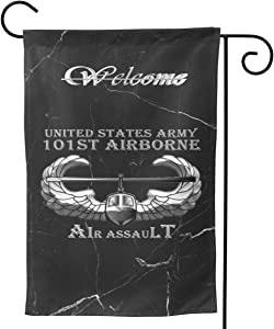 BIJNyzeshposiqnal US Army 101st Airborne Air Assault Flag Garden Flag Outdoor Flag