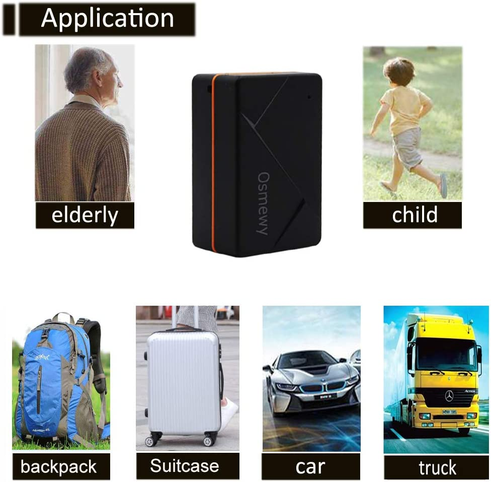 Osmewy Mini Kids GPS Tracker /& Magnetic Car GPS Tracker Vehicle Tracking Device Real Time Hidden Personal Locator for Children Elderly Backpack Car Truck Motorcycle Anti-Theft 1000mah GT039A