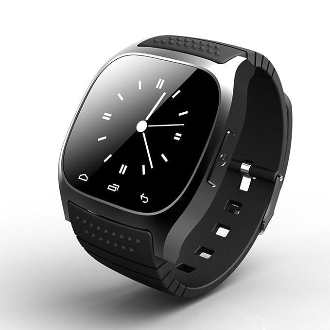 3 opinioni per Orologio intelligente da polso a schermo tattile con connessione Bluetooth, con