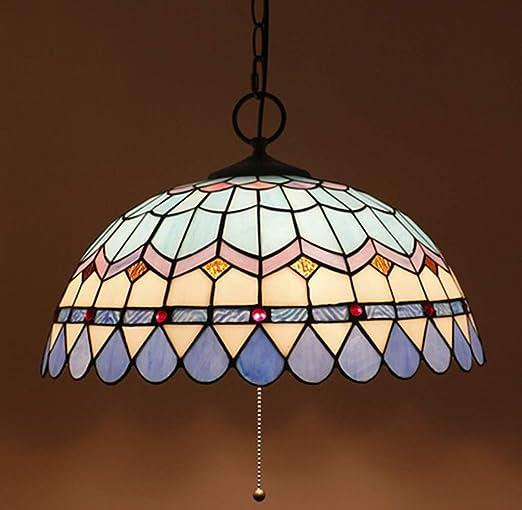 Lampade a sospensione blu Paralume in vetro colorato stile