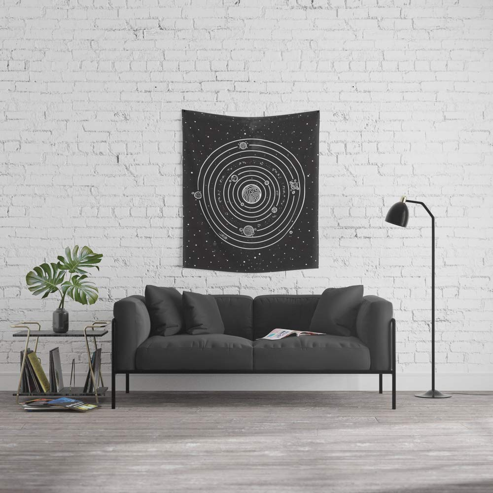 Society6 Wall Tapestry, Size Small: 51'' x 60'', Solar System by neolrond3