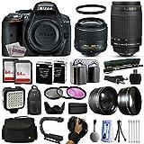 Nikon D5300 DSLR SLR Camera + 18-55mm VR II + Nikon 70-300mm + 128GB Premium Kit