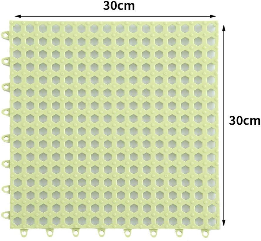 Ducha Cocina Creativee 4 Alfombrillas de Ducha Modulares Entrelazadas de 30 x 30 cm Iimpermeables Ba/ño para Drenaje Piscina Verde Antideslizantes para Eempalme de Baldosas