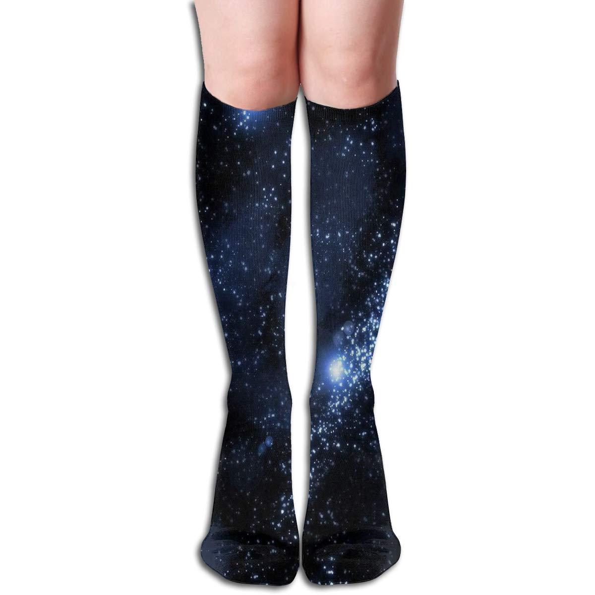Women Socks Mid-Calf Blue Sunflower Winter Stylish For Party