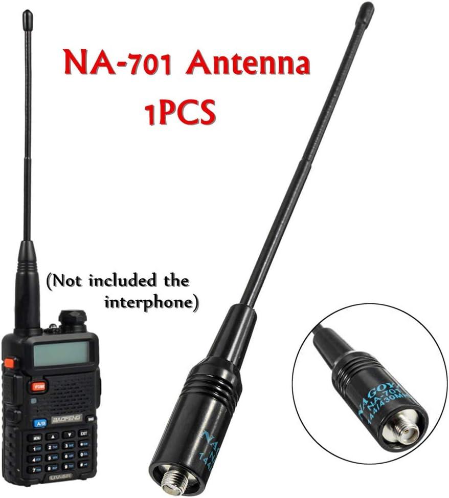 Doolland Antena de mano flexible NA-701 de doble banda 144/430 MHz para Baofeng UV-5R E Plus