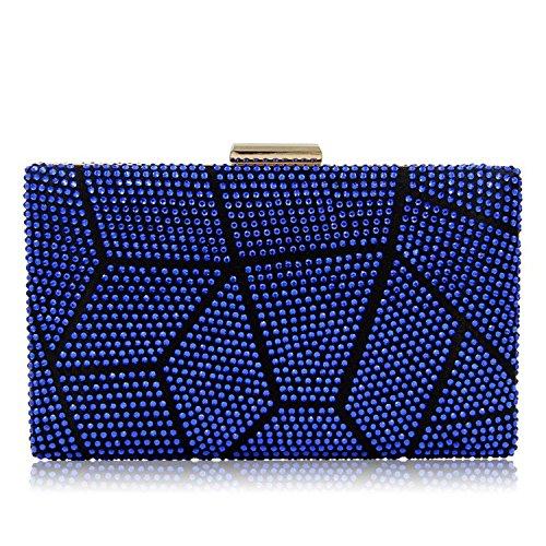 Female Evening Ladies Rising Clutches Blue ONWomen Party Purses Clutch Wedding Bag Bags OqWw8R4