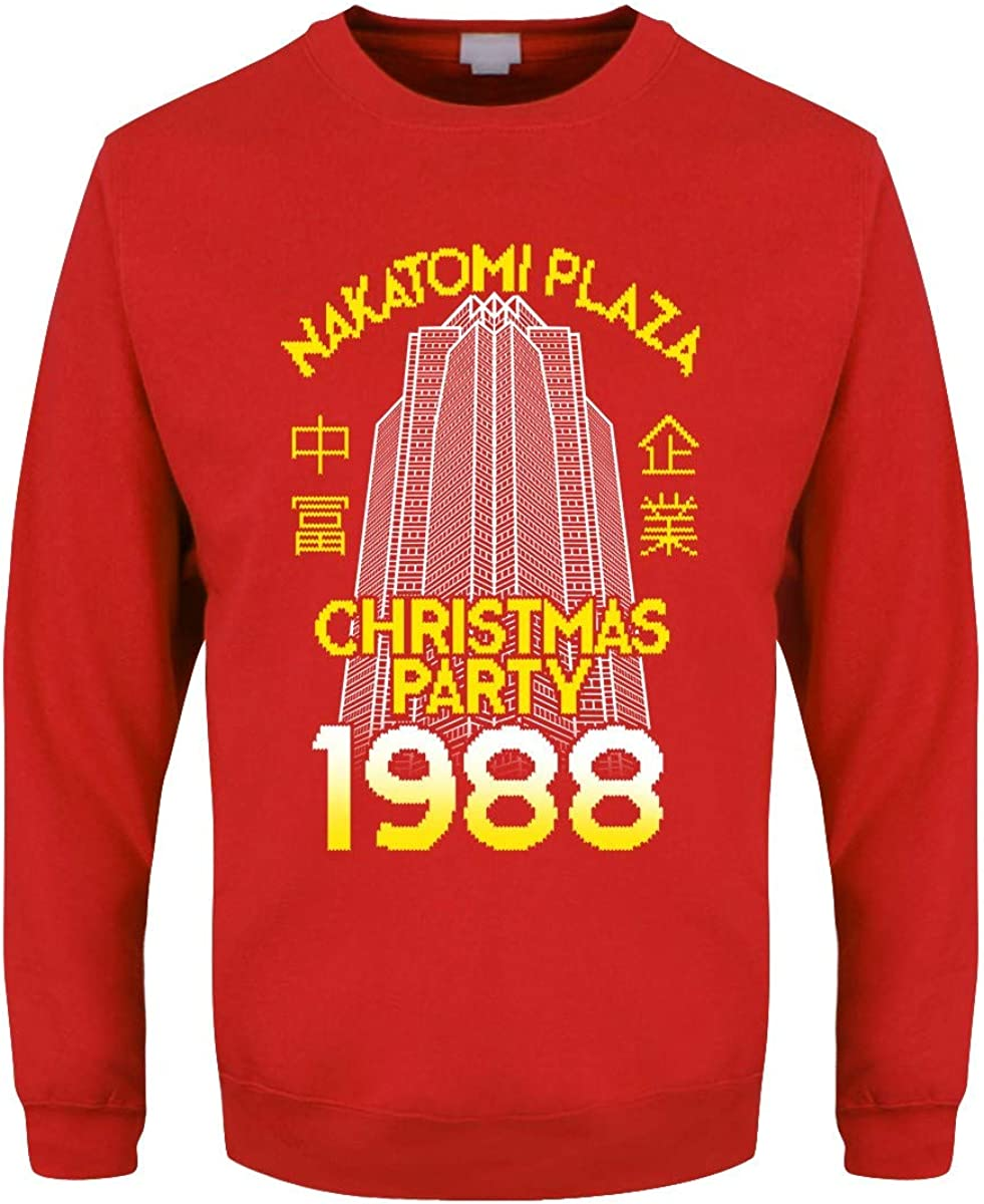 Mens Nakatomi Plaza Red Christmas Sweater
