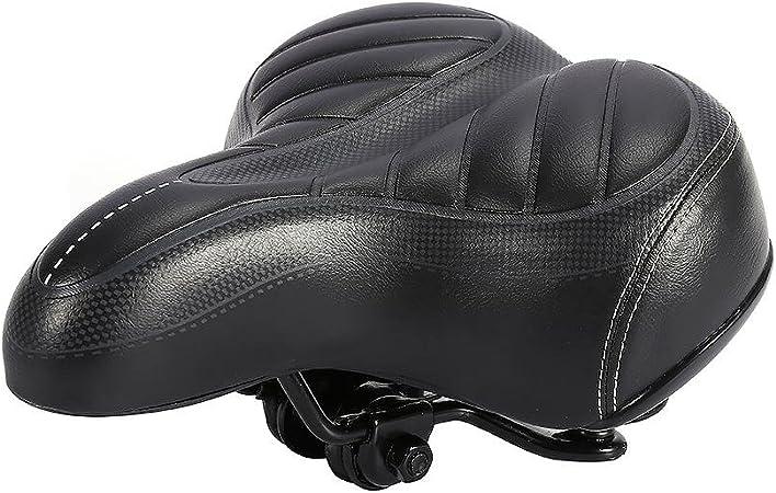 Sella Bici Donna City Bike Sedile Ultra Soft Cushion Thicker Mountain Bike Bicicletta Matte Nero