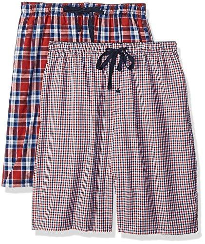 - Hanes Men's 2-Pack Woven Pajama Short, Indigo, X-Large