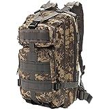 Minetom 30L Multi-Fonction Étanche Tactique Backpack Camouflage Militaire Sac à Dos Randonnée Trekking Camping Chasse Voyage