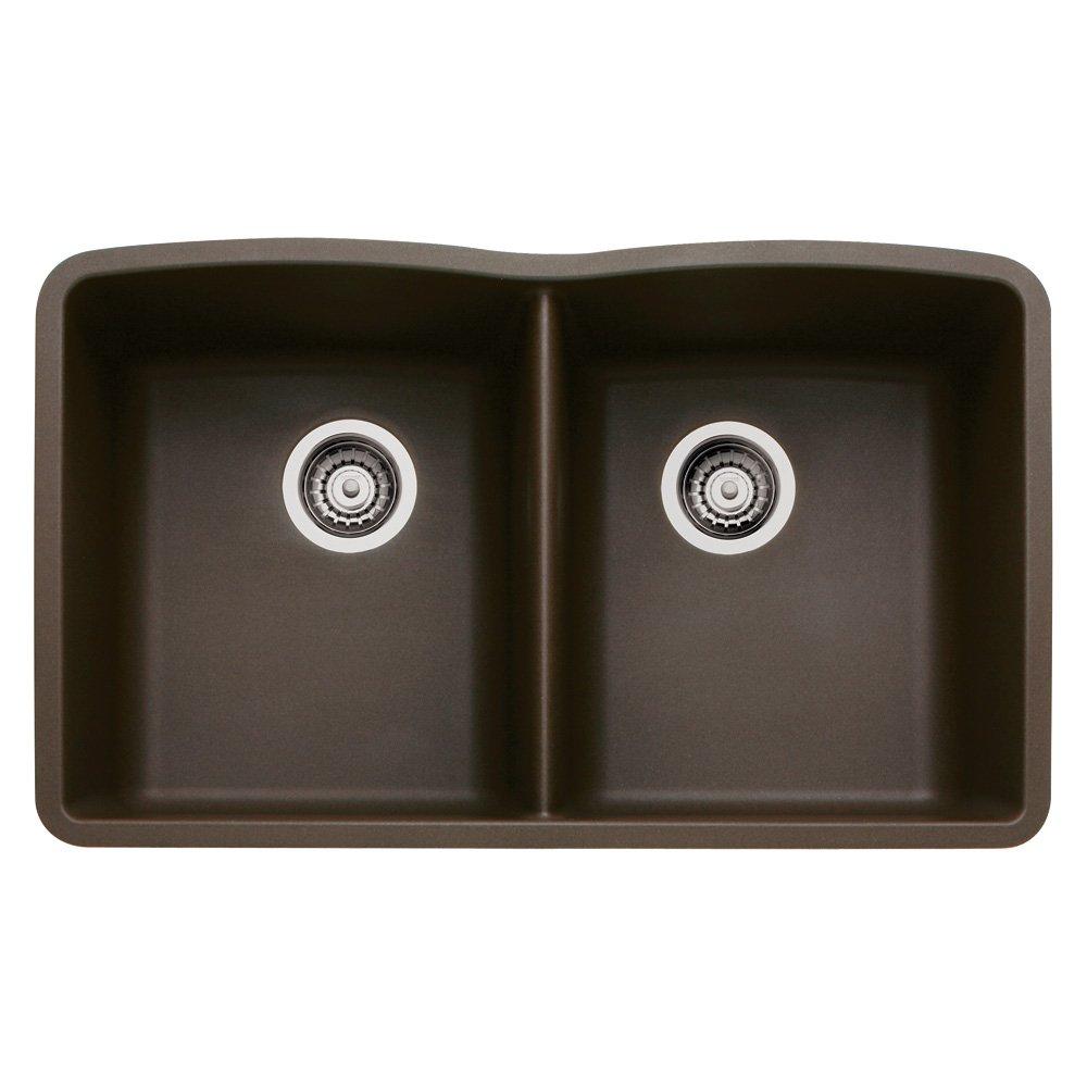 Blanco BL440182 Diamond Equal Double Bowl, Cafe Brown   Double Bowl Sinks    Amazon.com