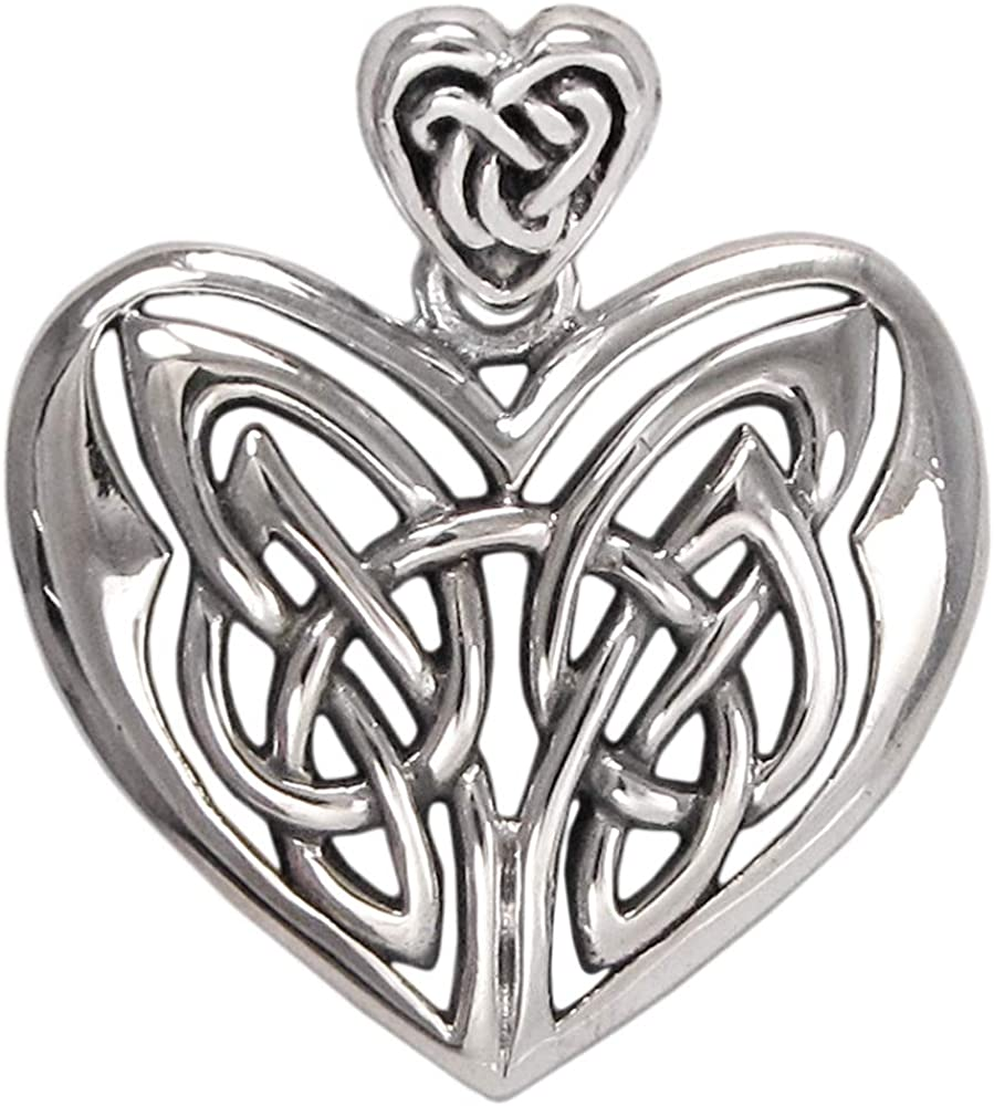Pagan Welsh Irish Scottish Celtic Knotwork Goddess Silver Necklace
