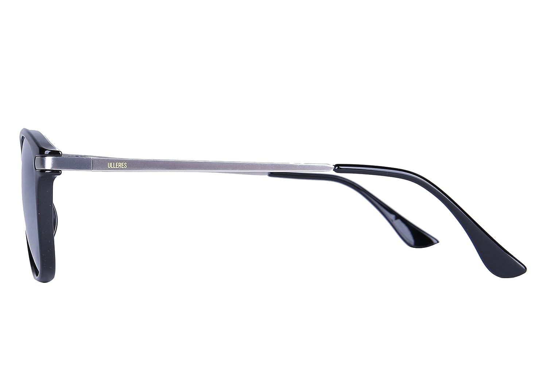 b3f784852e48b Amazon.com  ULLERES Sunglasses for Men Women Polarized Lenses Retro  Eyeglasses Durable Shades (Black