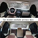 ZATOOTO Car Side Window Sun Shades - 4 Pcs Front Rear Magnetic Privacy Sunshades Black Silver SUV Windshield Curtain for Baby