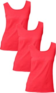 f2e4d7602a1 Amazon.com  Hanes 2 Pack Womens Red and Orange Long Rib Tanks (Size ...
