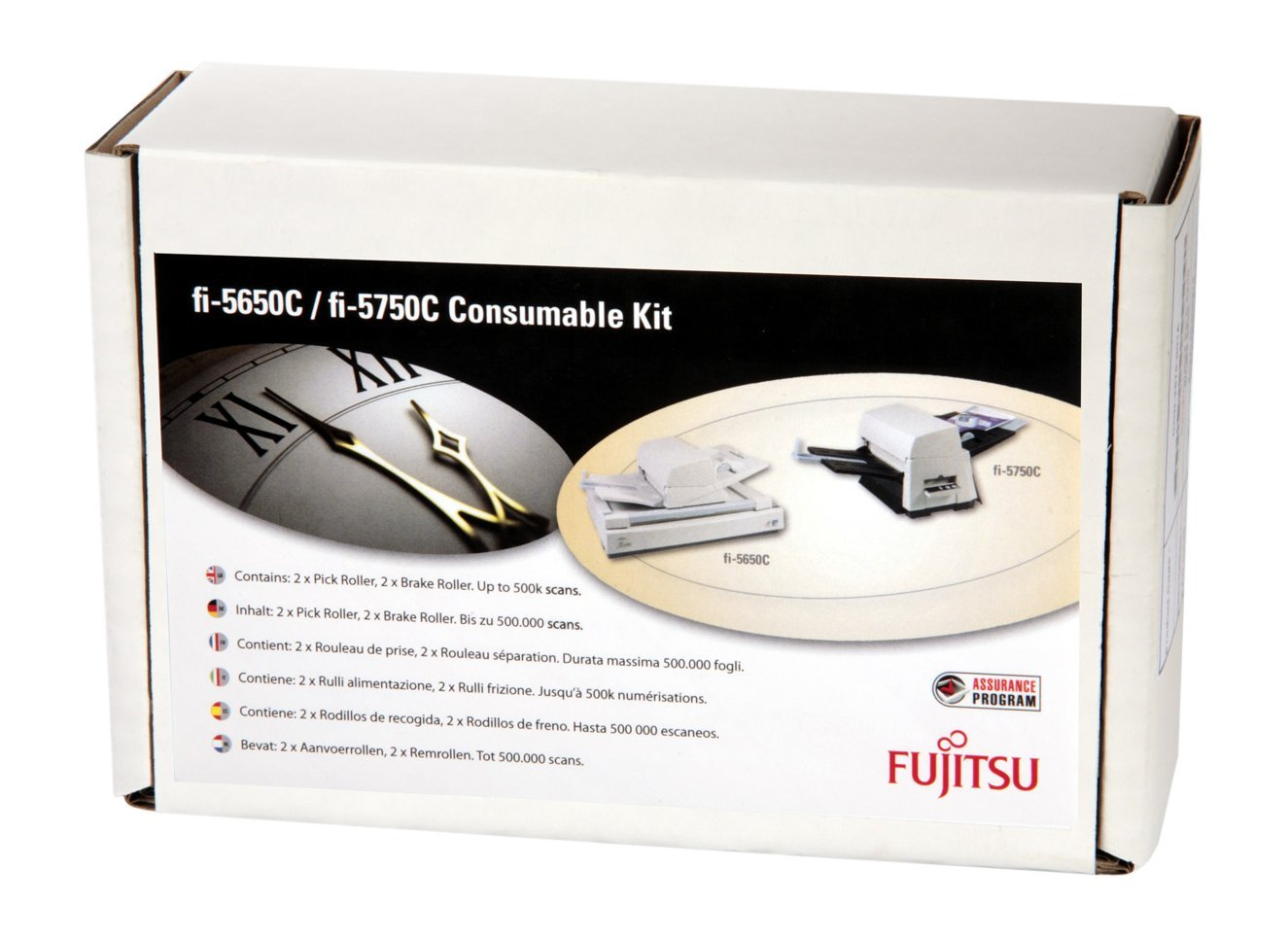 Sparepart: Fujitsu Consumable Kit Up to 500k Scans, PA03338-K011, PA03338-K010 (Up to 500k Scans)
