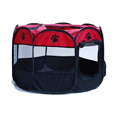 FSD-MJ Portador de Mascotas Plegable Carpa Parque para Perros ...
