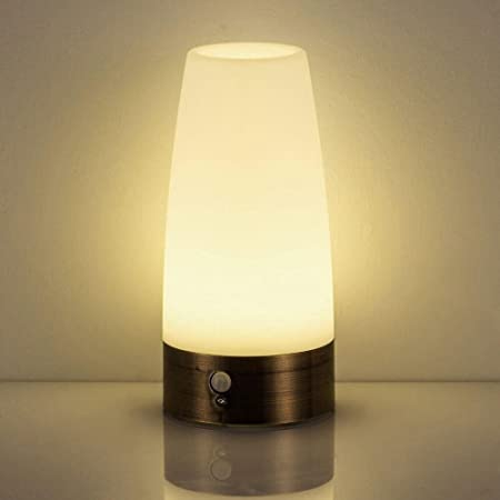 Niceeshoptm wireless motion sensor led table lamp battery powered niceeshoptm wireless motion sensor led table lamp battery powered indoor retro night mozeypictures Image collections