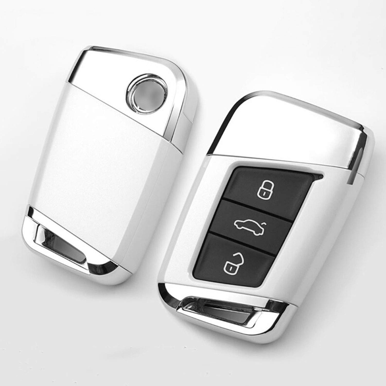 Kwaks Funda para Llave de Coche Compatible con Volkswagen 19 Magotan Passat CC B8 Variant VW Smart Remote ABS